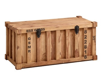 Chest container made of Shisham wood 90 x 40 cm box wooden box with lid