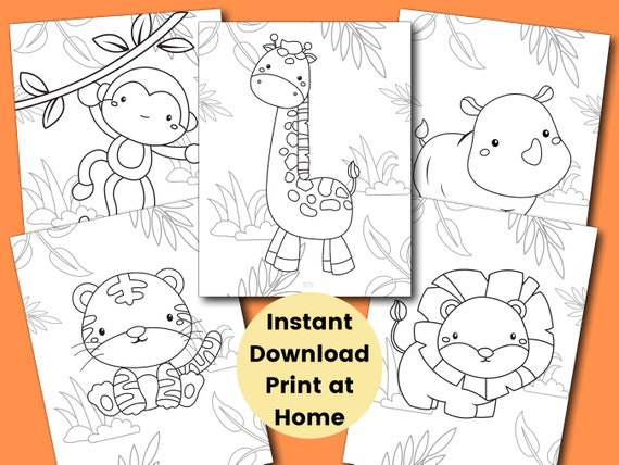 Safari Coloring Pages for Kids Kids Party Games Jungle