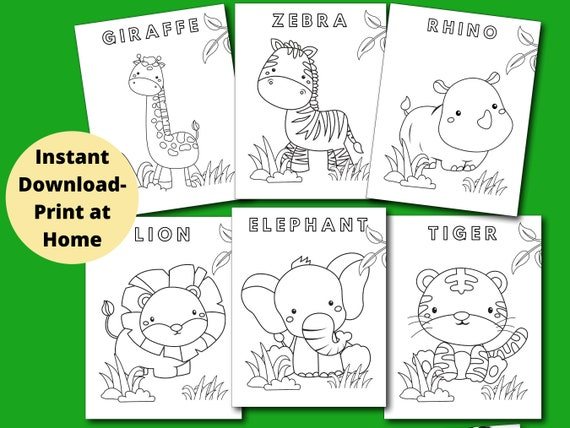 Animal Coloring Pages 6 Printable Animal Coloring Pages for