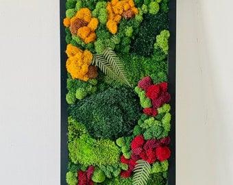 RuMoss | Moss Wall Art | Preserved Moss | Panels | Rectangular | Color Pop | Handmade | Gift | Eco-Friendly