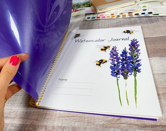 Watercolor Journal with Hahnemuhle Collection Watercolor Paper by Maria Raczynska