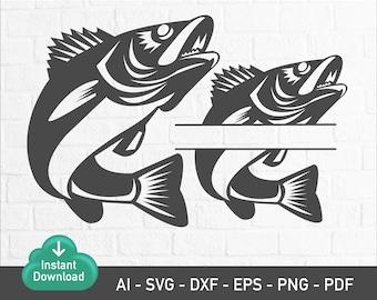 Walleye Fish Svg Etsy