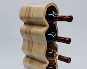 Wine rack, Solid wood, Wooden wine storage, Wine bottles stand, Ash-tree designed wine rack, 4 bottles wine storage, 7 bottles wine holder
