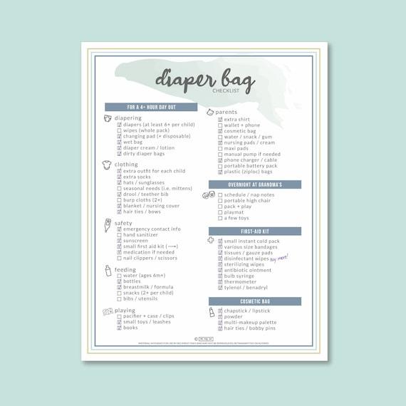 Diaper Bag Checklist: Easily Pack  Replenish Your Bag