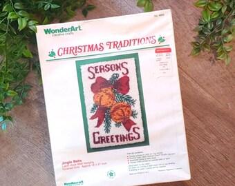 WonderArt Christmas Jingle Bells Latch hook kit