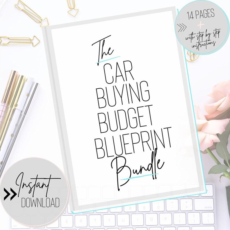 Car Buying Budget Blueprint Bundle  Create the Perfect image 0