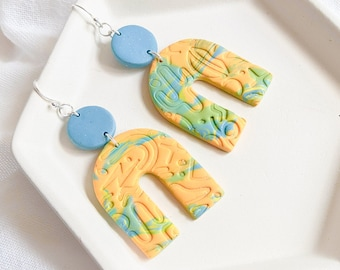 The Albuquerque | Handmade Polymer Clay Earrings | Statement Earrings | Geometric Earrings | Gift for Her | Clay Earrings | Cactus Earrings