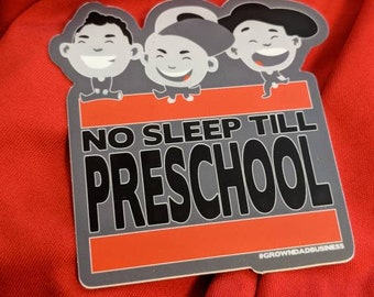 Beastie Boys | No Sleep Till Brooklyn [Preschool] | Licensed to Ill | Hip Hop Mantra | Parents of Hiphop | All-Weather anywhere STICKER
