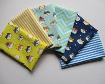 Cat Fat Quarter Bundle, Cotton Fabric Bundle, Animal Fun Fabric, Quilting Fabric, Craft Fabric Set, 100% Cotton, Set of 6, 40cmX50cm