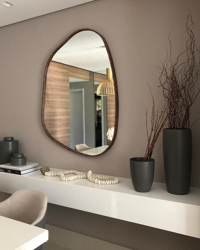 Asymmetrical Mirror Home DecorIrregular MirrorAesthetic image 3