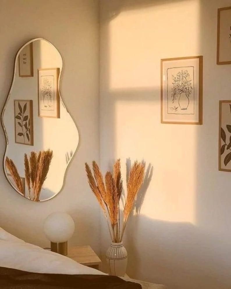 Asymmetrical Mirror Home DecorIrregular MirrorAesthetic image 0