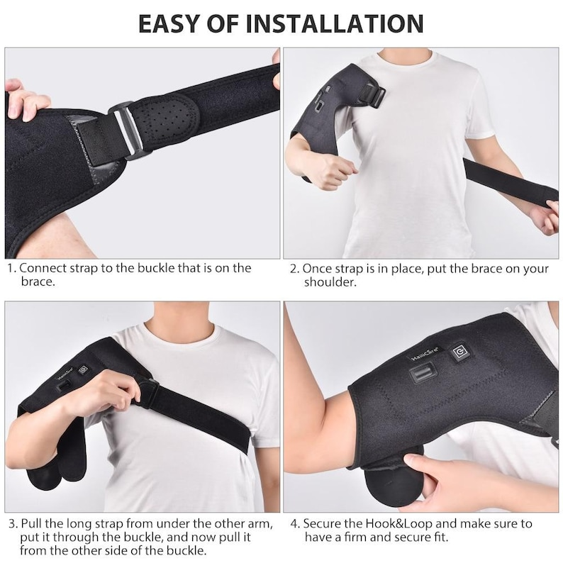 Heat Therapy Hot Cold Adjustable Shoulder Brace Pain Relief Shoulder Support