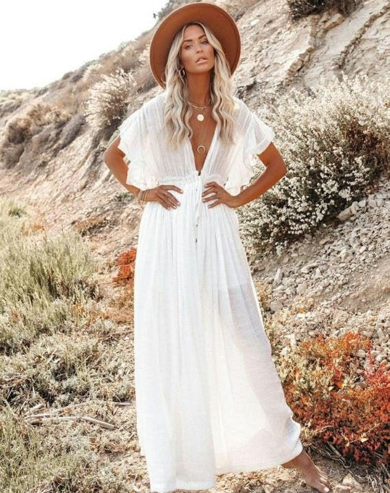 Boho Summer Dress for Women Tribal Hippie Dress Bohemian Dress Maxi Boho Dress Boho White Dress Boho Dress Floral Fashion Dress