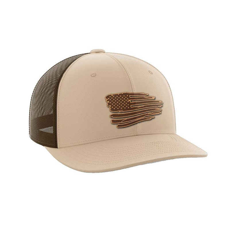 Torn Flag Leather Patch Hat