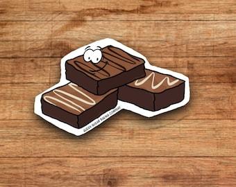 Vinyl sticker, Brownie Sticker, Food sticker, Dessert sticker, Journal Sticker, Laptop Sticker, Planner sticker, Kpop sticker, Cute sticker