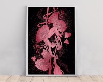 Aerial Arts Silks Yoga Art Print