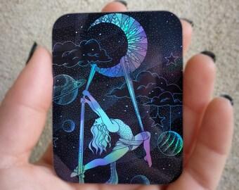 Aerial Silks Yoga Sticker Holographic Gift
