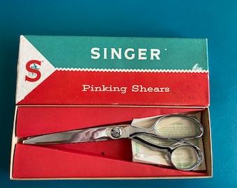 Vintage Pinking Shears Singer Sewing Machine Oil Rick Trim West Germany Sewing Room Measuring Tape Junk Drawer