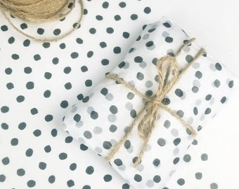 Polka dot tissue paper | FSC Eco-friendly Soy Based inks | Spotty patterned tissue paper | Recycled Recyclable packaging