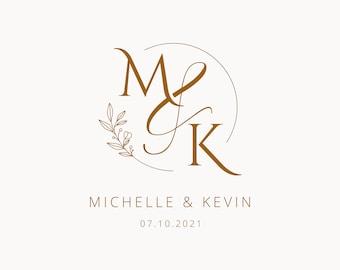 Elegant Wedding Monogram, Premade Wedding Logo Design, Wedding Invitation, Couple Logo, Monogram, Wedding Design, Save The Date Logo