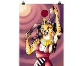 Mafdet - Kemetic Artwork Poster Print