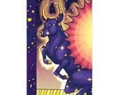 Celestial Cow - High Quality Original Kemetic Artwork Print 4″ × 6″