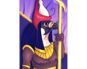 Heru/Horus - High Quality Original Kemetic Artwork Print 4″ × 6″