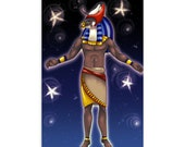 Heru/Horus Embrace - High Quality Original Kemetic Artwork Print 4″ × 6″