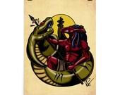 Set, The Slayer - Kemetic Artwork Poster Print