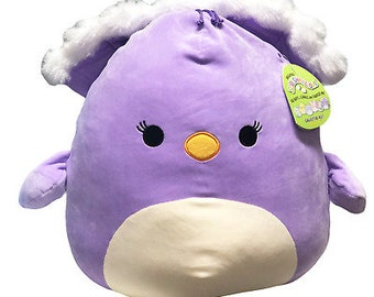 """New 16"""" Elina peacock squishmallow 2021 easter collection"""