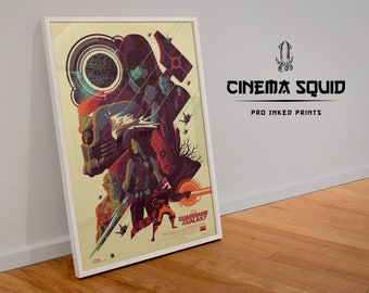 Guardians Of The Galaxy Movie Film Poster Professional Print Home Decor Wall Art premium Poster size A4 A3 - Gift Idea