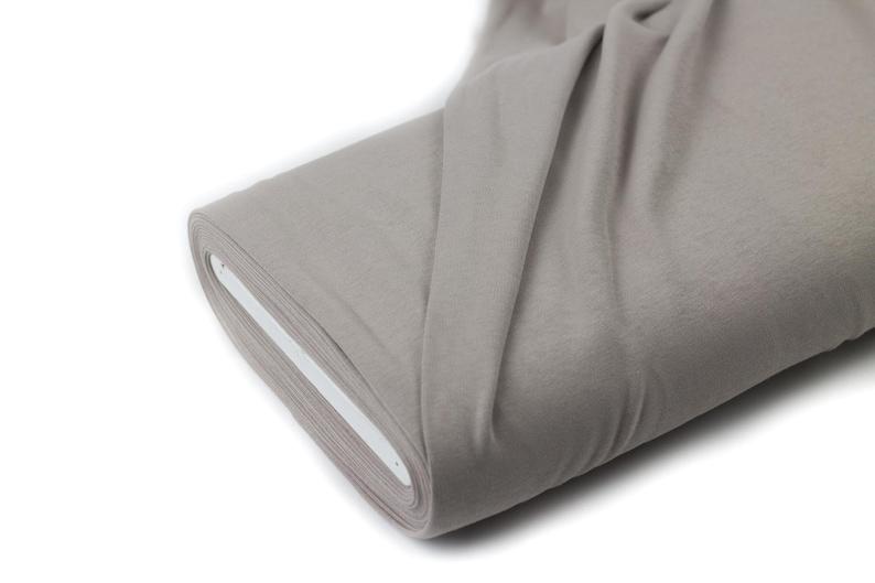 Cotton Interlock Jersey with Lanoline Finish Taupe FvJulie