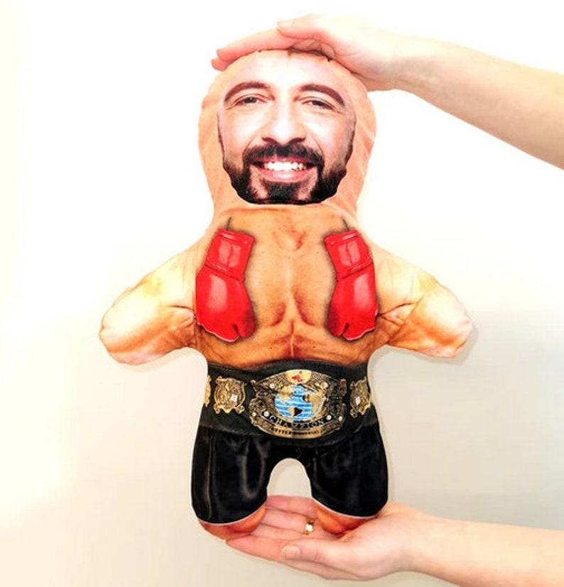 SnugMug  Boxer  Mini Me Doll  custom pillow photo face image 0