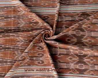 Old Iban ceremony natural fruits dyed cotton Ikat skirt .Borneo.#1