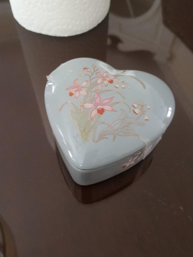 Blue Heart Japanese Trinket box