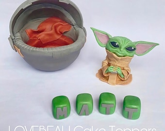 2m x 22mm Wide Pink Baby Yoda Grogu from The Mandalorian for Personalised Birthday Cake Decoration Ribbon Decorating Ideas for Present