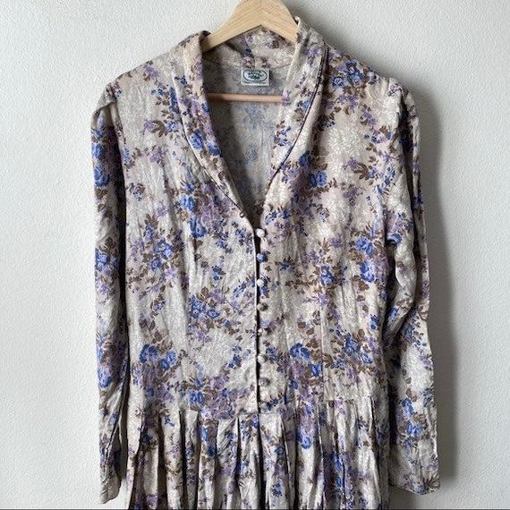 Laura Ashley Vintage 80s Cottagecore Prairie Flor… - image 4