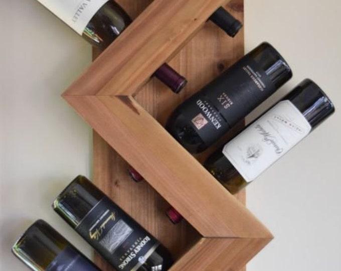 Zig Zag Wine Rack | 6 Bottle