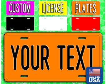 Custom License Plate, Personalized Plate, Custom Car Tags, 6 x 12 Inch Personalized Aluminum License Plates