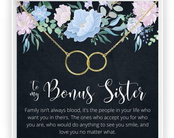 Step Sister Necklace | Sister in Law Necklace, Bonus Sister Gift, Birthday Gift Idea For Sister, Necklace, Unbiological Sister, Step Sister