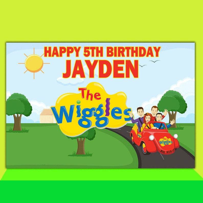 The Wiggles Party Background The Wiggles Photobooth Digital File Only The Wiggles Backdrop