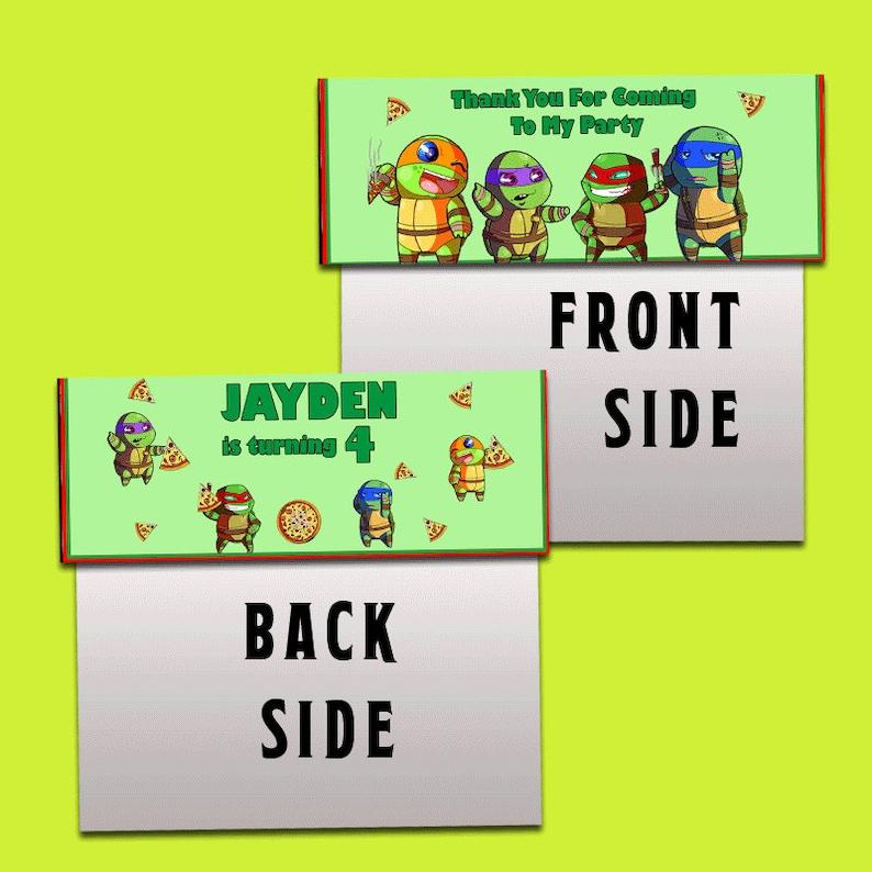 Tmnt Ninja Turtles Candy Bag TMNT Label TMNT Bag Topper Digital File Only TMNT Party Decor