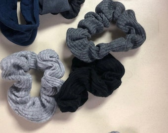 Recycled Textile scrunchie hair ties