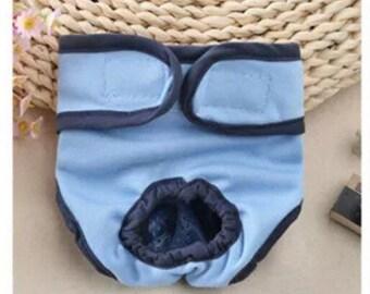 Female Dog Diaper Reusable Nappy Bitch Season Heat Menstrual Sanitary S/M