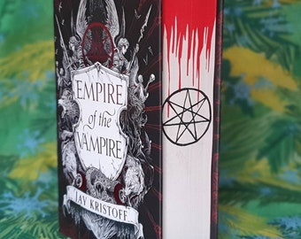 Empire of the Vampire by Jay Kristoff with stencil sprayed and hand painted edges