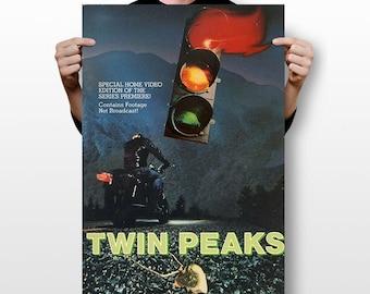 Twin Peaks Film Mystery TV Series Graphic Print Wall Art - POSTER 24x36