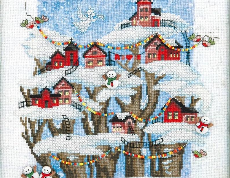 Cross stitch kit Christmas fairy tale by Charivna Mit