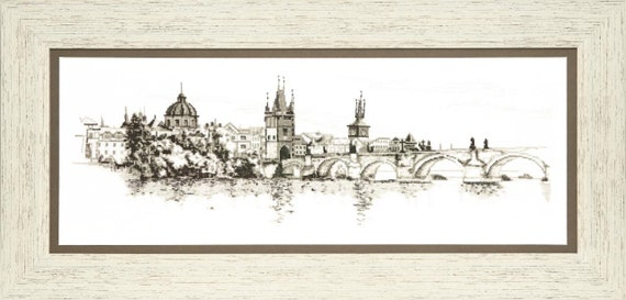 "Cross stitch kit Crystal Art ""Memories of Prague"""