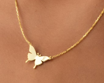 charm necklace bridesmaid gift gold spring butterfly necklace mothers day gift birthday gift for her
