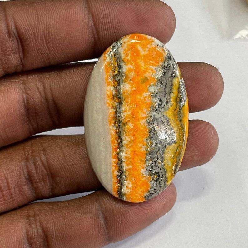 Natural Bumble Bee Jasper Gemstone Top Quality Bumble Bee Jasper Cabochon Semi Precious Handmade Loose Stone For Jewelry